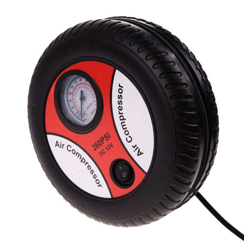 Cars Mini Inflatable Pump Electric Tyre Pressure Monitor Compressor PortablePSI 12V Air Pumping Tire Pumps for