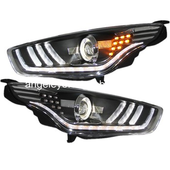 2015-2016 year For Ford for Escort LED Head Lamp Headlights front light for Mustang style