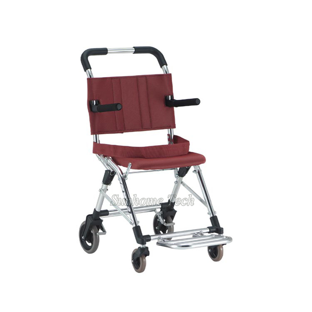 Japanese Style Aluminum Alloy lightweight folding travelling wheelchair,airplane used 6.2Kg  N.W