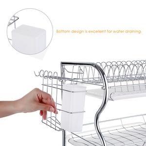Image 4 - Multi functional 3 Tier Dish Rack Kitchen Supplies Storage Rack Draining Rack Chopsticks/Knives/Cutting Board Holder Drainboard