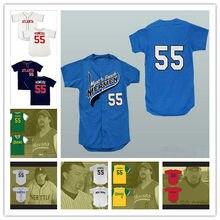 ecff54652 Kenny Powers  55 Mexican Charros Atlanta New York Boston Myrtle Beach  Mermen All Stitched Baseball Jerseys Free Shipping