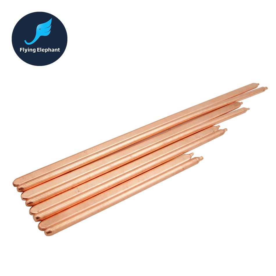 Pure Copper Tube Tubing For Computer Laptop Cooling Notebook Heat Pipe Flat Or Round 100mm-400mm Optional