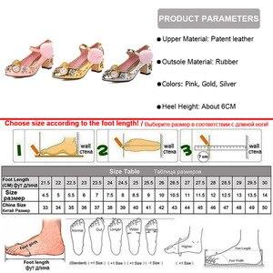 Image 5 - Phoentin tribunal estilo mary jane sapatos rebite bombas de cristal com pele relógio decoração 2020 ouro salto alto botão fechamento FT333 1