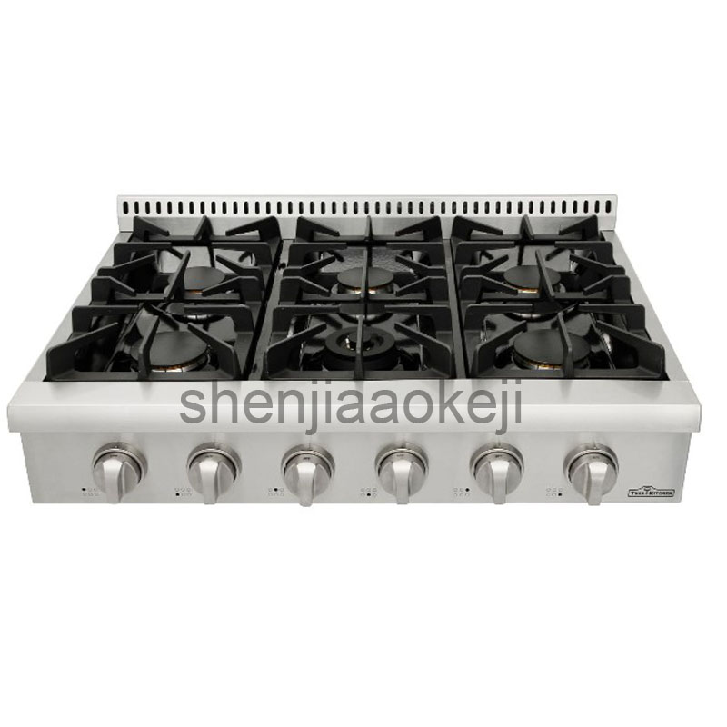 все цены на 120V60Hz 1PC Stainless Steel Kitchen appliance gas burner stove Household Gas stove 36 inch embedded gas cooking stove онлайн