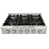 120V60Hz 1PC Stainless Steel Kitchen appliance gas burner stove Household Gas stove 36 inch embedded gas cooking stove