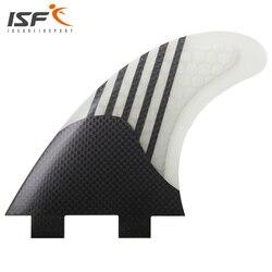 Insurfin Carbonfiber Pinne Tavola Da Surf Propulsore Fin Set (3) FCS Compatibile Medio Pinna Da Surf