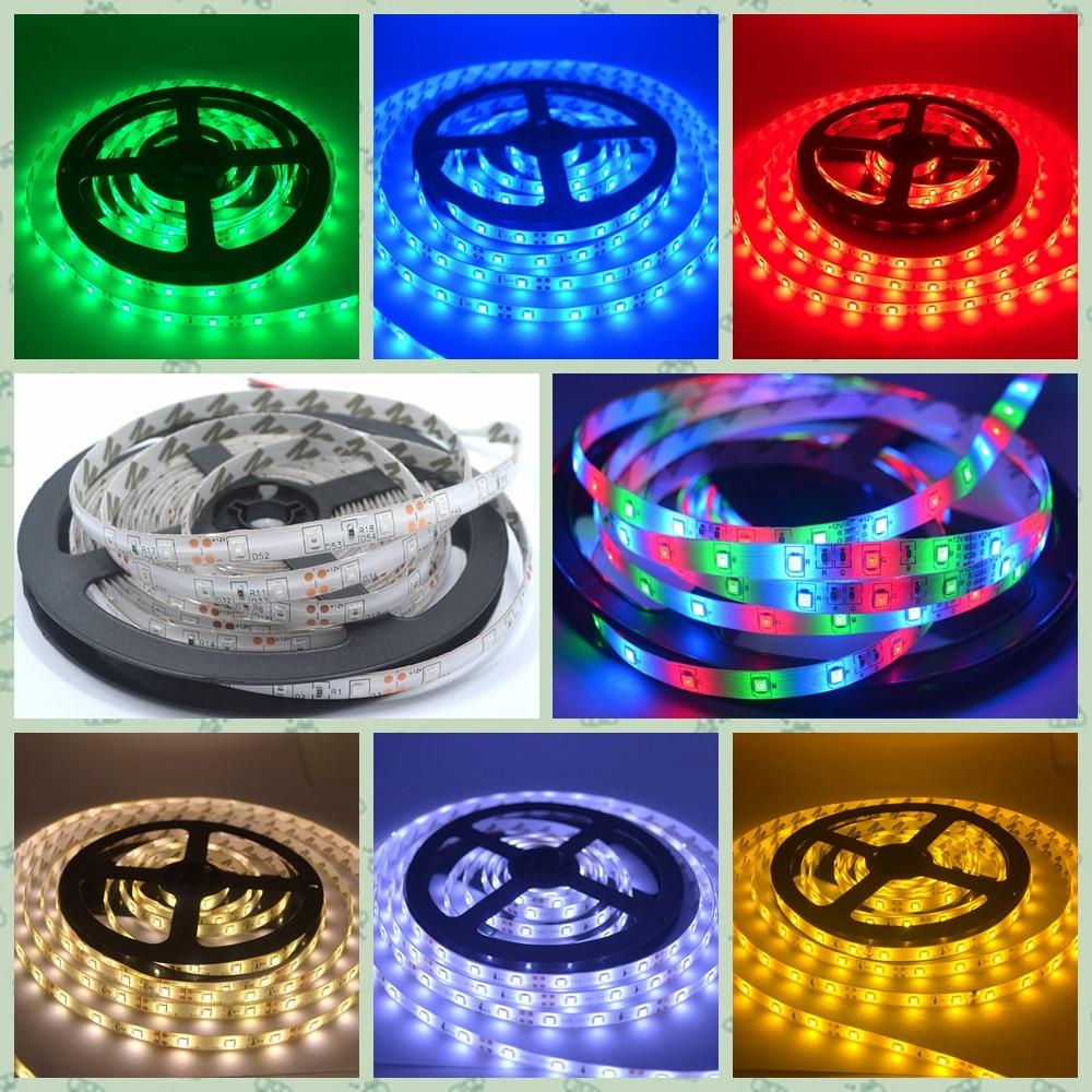 5m 2835 300led Waterproof Led Strip Ip65 Rgb Light Dc 12v 60leds M Flexible Lighting String Home