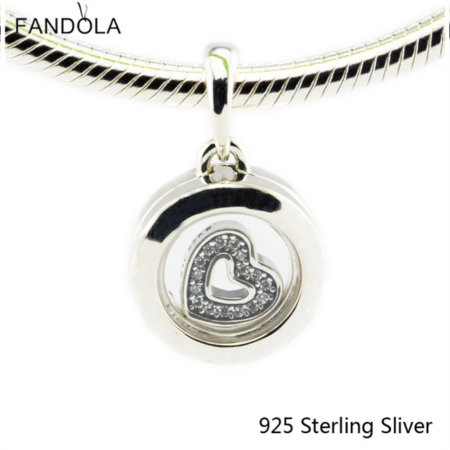 Beads Fits Pandora Bracelet 925 Sterling Silver Jewelry Floating Locket For Wome
