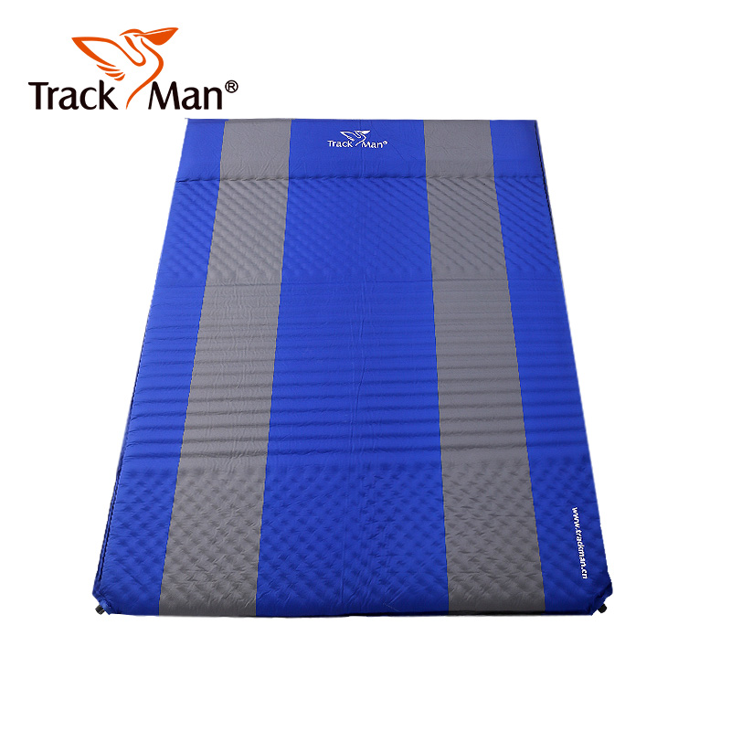 Trackman Foldable Outdoor Camping Mat 2 Person Automatic inflatable Sleeping Pad Waterproof hiking travel Mattress hewolf outdoor 2 person automatic inflatable mattress cushion picnic mat inflating hiking camping travel beach moisture pad