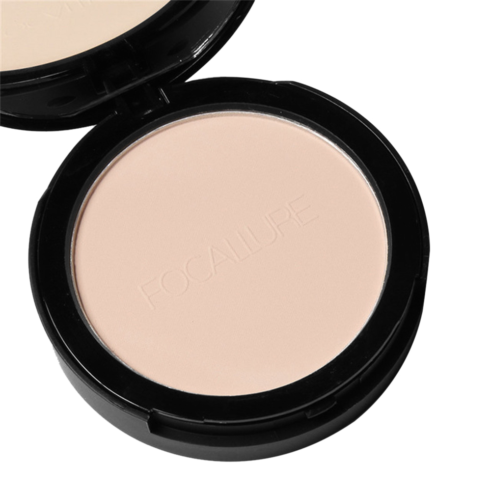 FOCALLURE 3 Color Foundation Pressed Powder Facial Makeup Finishing Powder Waterproof Cosmetic Skin Loose Powder Palette