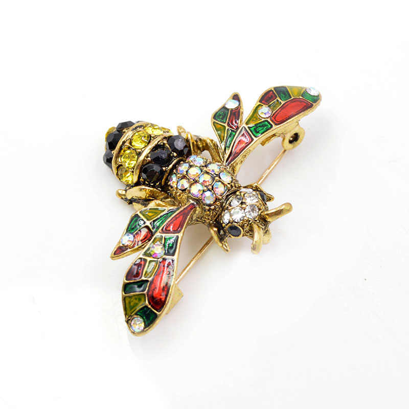 4145d344c7b4d CINDY XIANG 4 colors choose rhinestone bee brooches for women vintage  insect brooch pin cute fashion enamel pins new year gift
