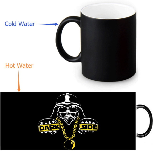 <font><b>dark</b></font> <font><b>side</b></font> Star Wars <font><b>mugs</b></font> magical heat change color coffee <font><b>mug</b></font> heat reveal cup magic <font><b>mug</b></font> tea cups