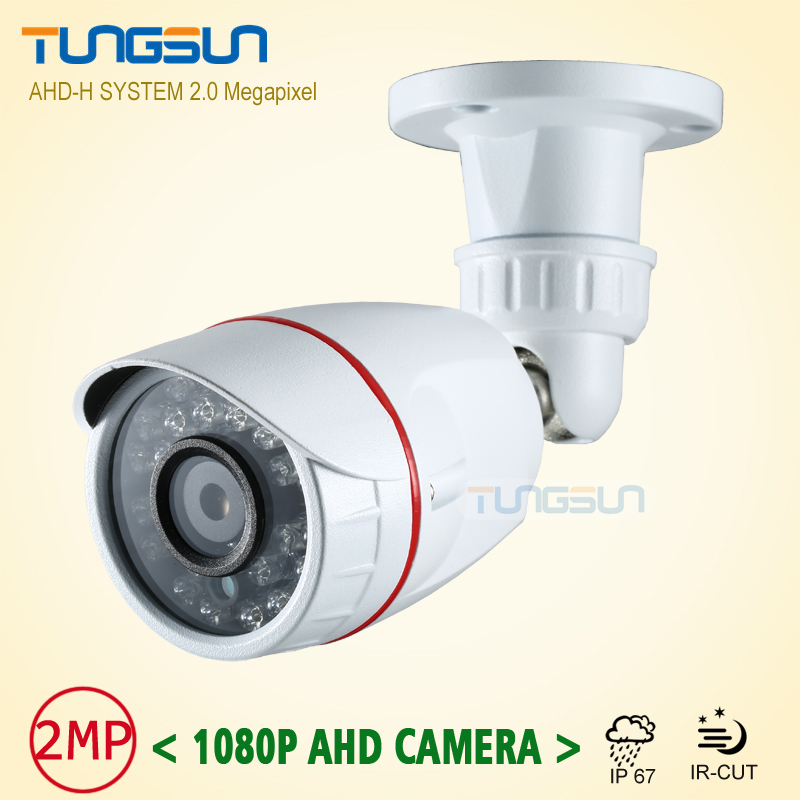 New 2MP HD 1080P AHD Security Camera CCTV White Metal Mini Bullet Video Surveillance Waterproof IR Night Vision Vandal-proof
