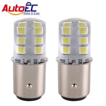 AutoEC 100x S25 1156 BA15S 1157 BAY15D 2835 12 SMD SILICA P21W 12LED Auto Signal Reverse Lights 12V Parking Rear Lights #LF78