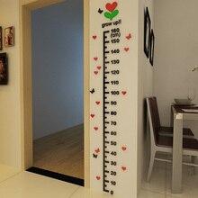 DIY Children Height Measure Acrylic Stickers for Kids Room Decorations Cartoon Height Measurement Sticker  цена в Москве и Питере