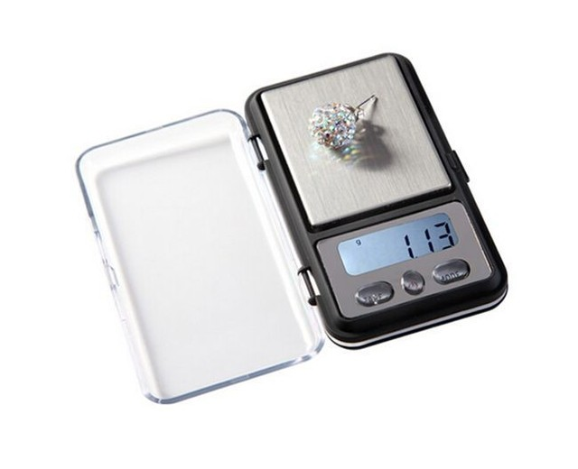 28910967335b US $8.74 39% OFF|0.01g mini electronic pocket weight scale small precision  jewelry balance travel machine cr2032 digital portable diamond scales-in ...