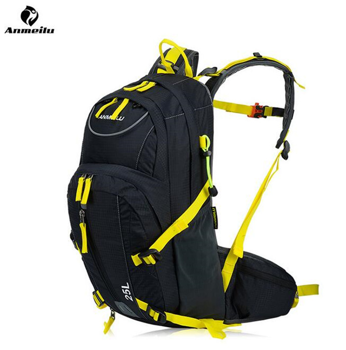 ANMEILU 25L Climbing Bag Rucksack Waterproof Outdoor Cycling Camping Sports Backpack Mens Travel Bags With Rain Cover 25l universal outdoor foldable soft backpack lightweight multi pocket climbing tool storage bag waterproof nylon climbing bags