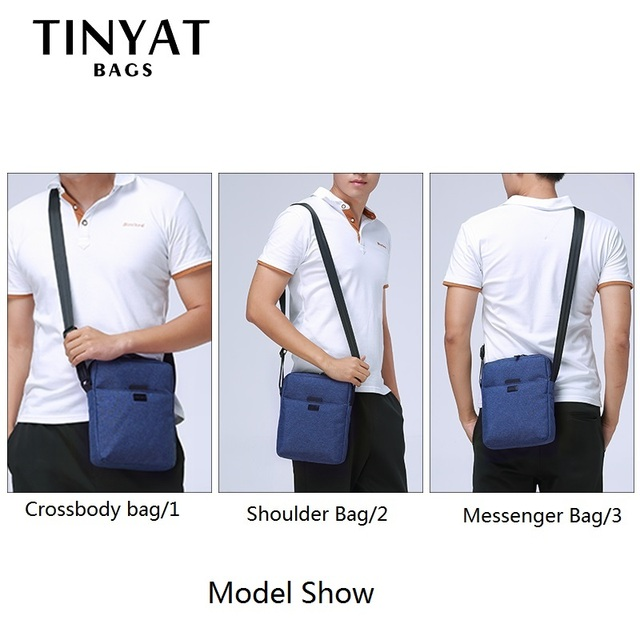 Men Handbag Bag New Male Men's Shoulder Bag For Ipad Canvas Crossbody Bag Light Waterproof Messenger Bag Casual Blue 2