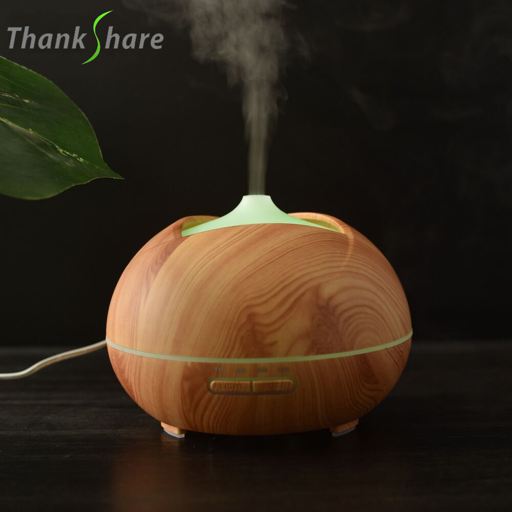 Aroma Essential Oil Diffuser 300ml Air Humidifier Aromatherapy Mist Maker 7-Color LED Aroma Lamp Fogger for Office Home SPA new 300ml woodgrain essential oil aroma diffuser aromatherapy humidifier mist maker purifier 3 models