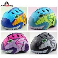 Kingbike 2018 novo capacete de ciclismo crianças capacetes da bicicleta ultraleve menino capacete da criança da menina do miúdo da bicicleta capacetes Capacete da bicicleta     -