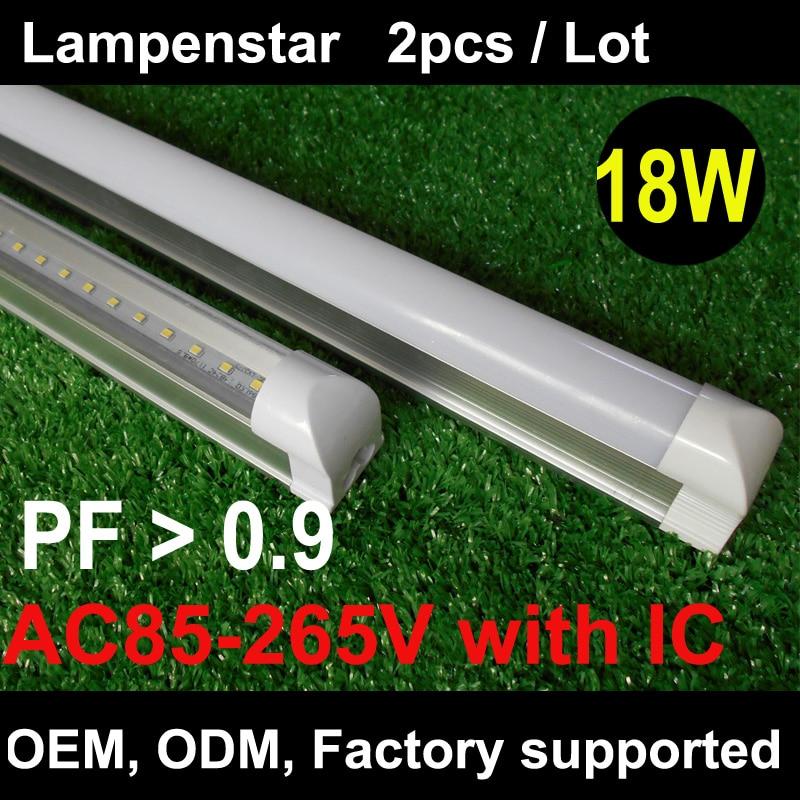 T8 led 1200mm lumière 18W120cm 4Ft 1.2 m g13 avec support luminaire haute puissance SMD2835 remplacement Fluorescent 85-265Vlampenstar