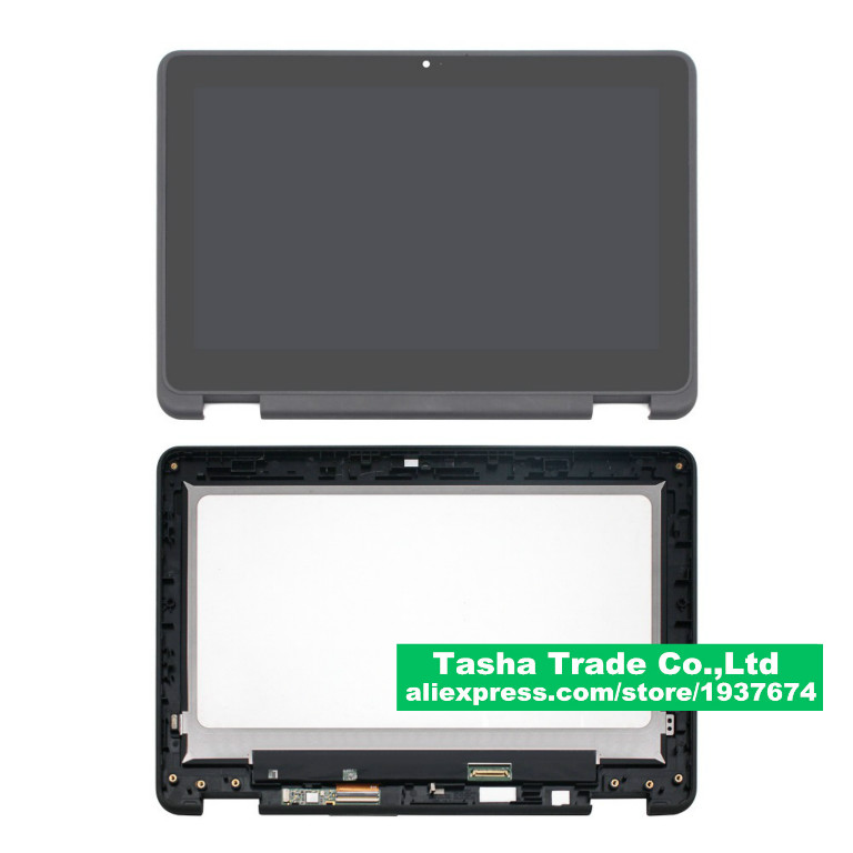 NV116WHM-N43 NV116WHM-A21 B116XAB01.2 11.6 Laptop LED LCD Screen With Touch screen Frame for Dell Chromebook 11 3189 смартфон alcatel 5 5086d metallic gold mediatek mt6750 3gb 32gb 5 7 1440x720 2 sim 3g lte bt 12mp 13mp 5mp wi fi gps glonas android 7 0