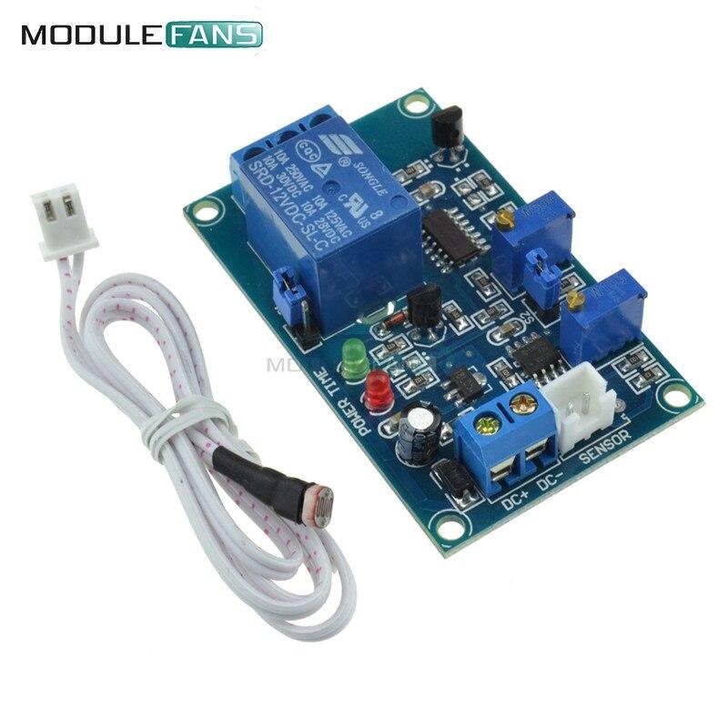 12V Photoresistor Relay Module Light Brightness Sensor