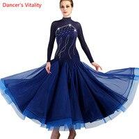 Ballroom Dance Dress Lady Womens Waltz Dance Dress Competition Standard Dance Dress Customized diamond Performance Wear