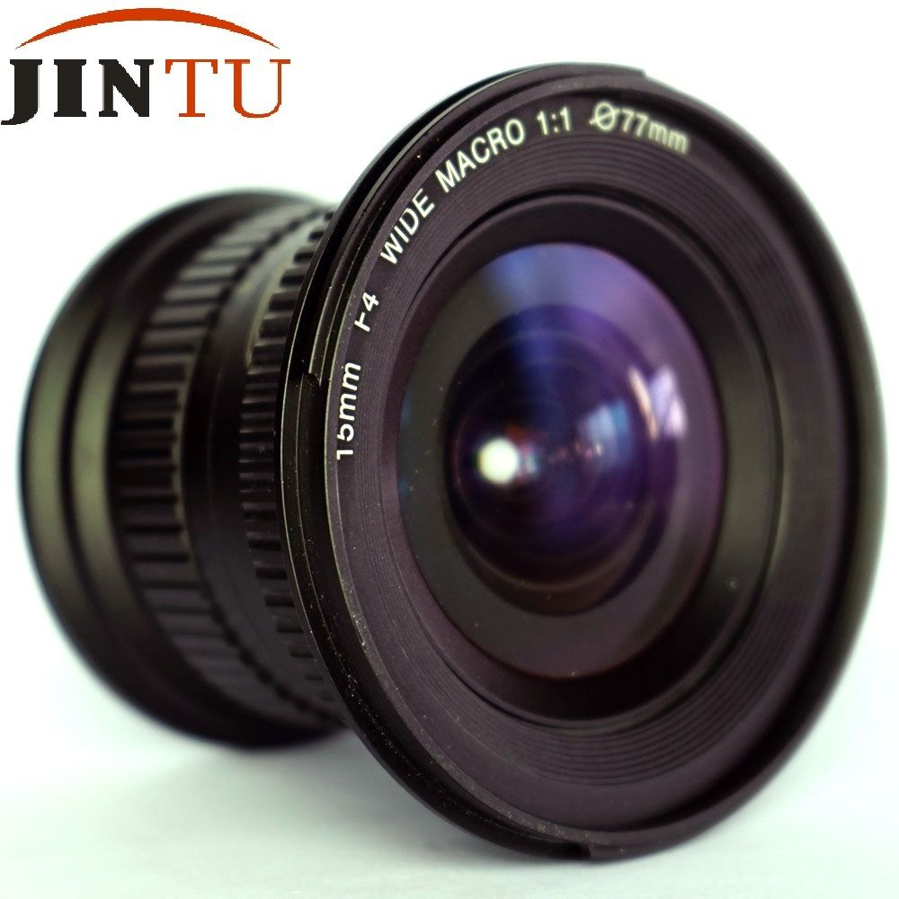 JINTU 15mm f/4.0 F4 Wide Angle Macro Fisheye Lens For NIKON DSLR Camera D7100 D7000 D5100 D5200 D3400 D3200 D90 D80 image
