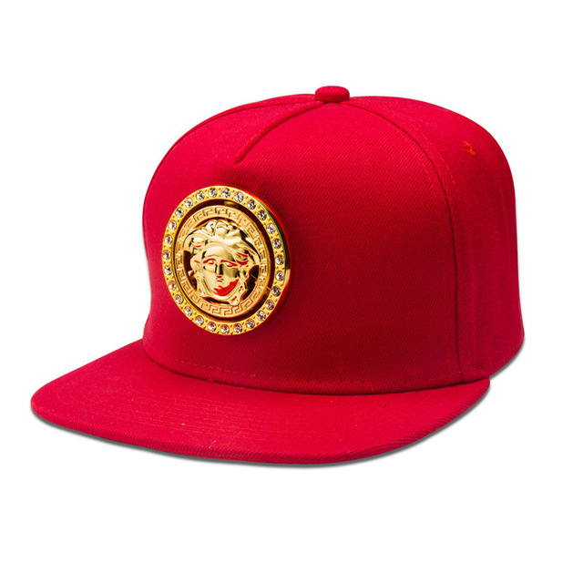 Top Quality Football Skateboard Baseball Hats Adult Fashion Hip-hop Water Drill Setting Golden Flat Snapback Caps