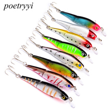 POETRYYI 2018 good fishing lure minnow quality professional bait 9*.2cm 7.5g fish lure swim bait jointed bait equipped hook Y40 good bait