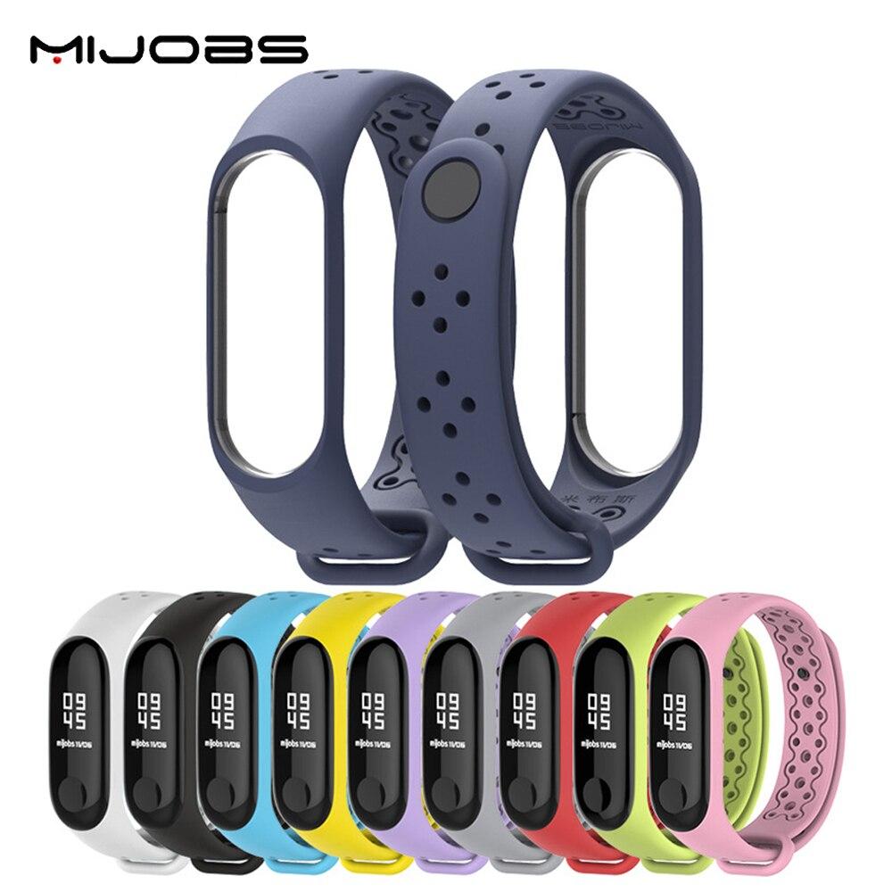 Спортивный ремешок Mijobs для Xiaomi Mi Band 4/3, силиконовый ремешок для Mi Band 4/3, браслет для Mi Band 4/3, Смарт-часы Mi 3/4