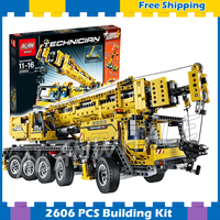 2606pcs 2in1 Technic Mobile Crane MK II Container Stacker 20004 Model Building Blocks Gifts sets Machine Compatible with Lego
