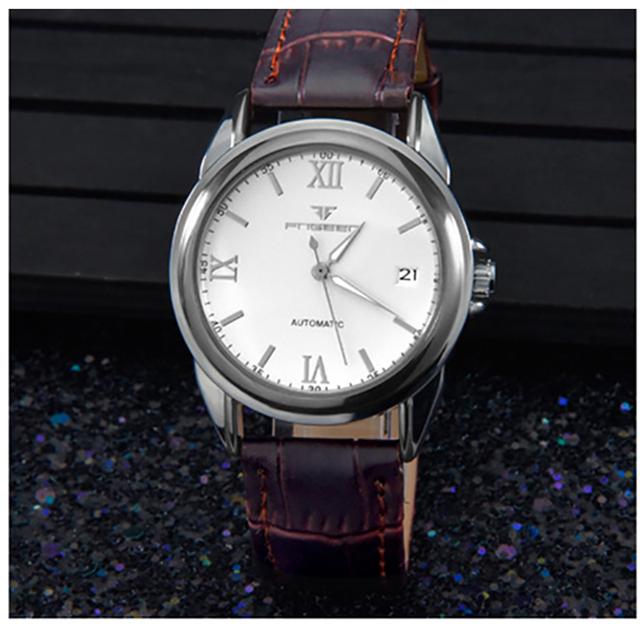 WACHES RELÓGIO Mecânico mens relógio Automático Homens Relógio de Couro Da Moda de qualidade superior à prova d' água relógio de pulso de luxo militar do vintage