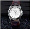 WACHES RELOJ Mecánico Automático para hombre Reloj impermeable de calidad superior de lujo del reloj de Los Hombres de Cuero de Moda reloj de pulsera militar de la vendimia