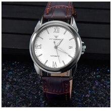 WACHES MONTRE Mécanique mens Automatique horloge Hommes De Mode En Cuir Montre top qualité imperméable à l'eau de luxe montre-bracelet militaire vintage