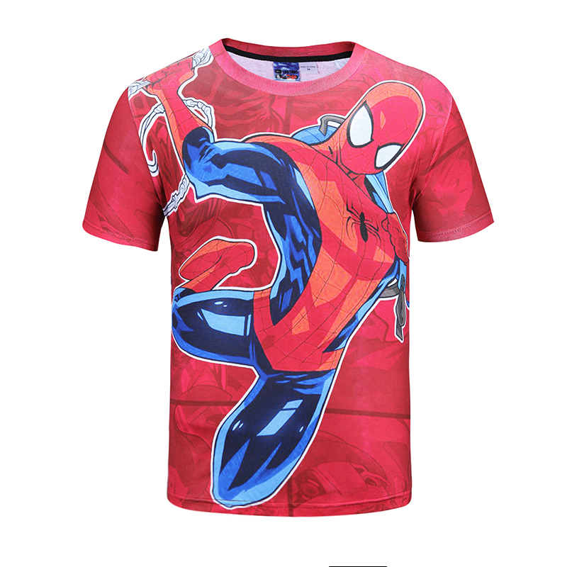 Mr.1991INC 3d T-shirt Men/Women Anime Print Spider Superman Hero Man Short Sleeve O Neck Fashion Youth T shirts Summer Hip Hop