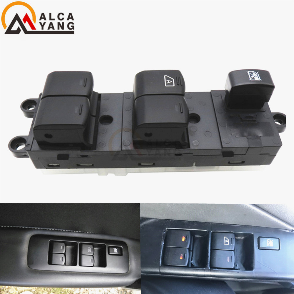 Control Switch 25401-EB30B 25401EB30B Front Left Power Window Lifter Master For Nissan Pathfinder R51 Navara D40 King Cab Pickup front left electric power window lifter master control switch for bmw 61319241915 6131 9241 915