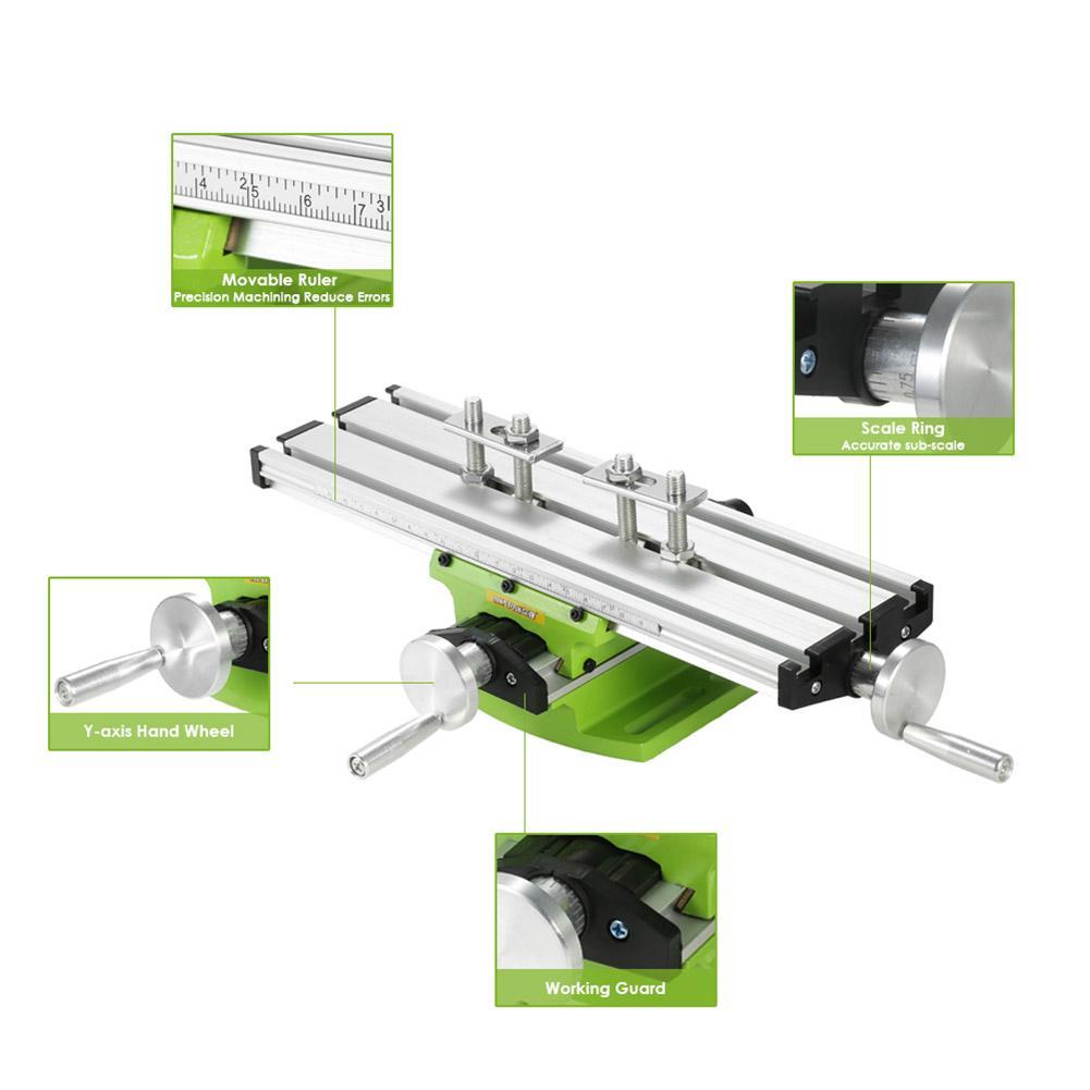 Milling Machine Compound Bench Cross Slide Work Table Drill Press Vise Milling Fixture Set Fresadora Work