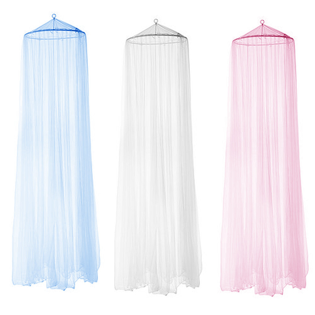 4 Color Elegant Round Mosquito Net Canopy Netting Curtain Dome Home Bedroom Fly Insect Midges