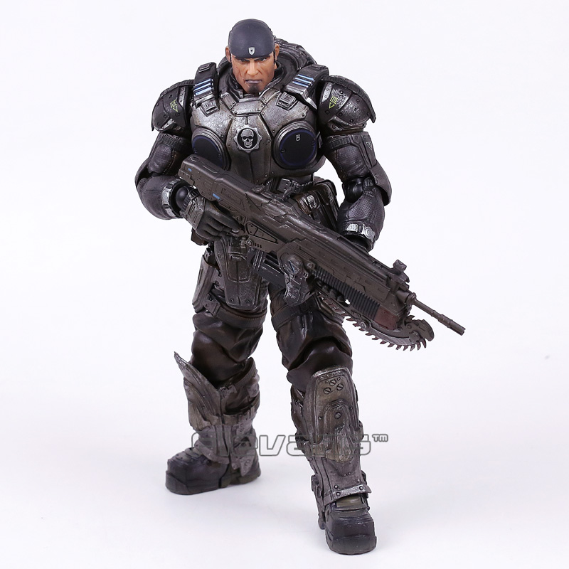 Play Arts Kai Gears of War Marcus Fenix PVC Action Figure Collectible Model Toy майка классическая printio gears of war 2