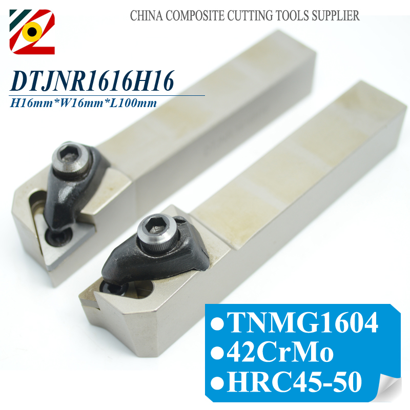 EDGEV DTJNR1616H16 DTJNL1616H16 DTJNR DTJNL CNC Metal Lathe Cutter External Turning Tool Holder For Carbide <font><b>Insert</b></font> TNMG <font><b>1604</b></font> 332 image
