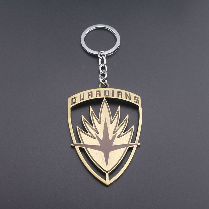 Vintage Guardians of the Galaxy Keychains High Quality Key Holder Llaveros Movie Jewelry Antique Bronze Key Chain Sleutelhanger
