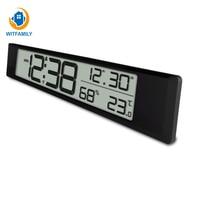 En Vochtigheid Wandklok Decoratie Europese Batterij Klok Datum Indoor Tempera Digitale Elektronische Wekker