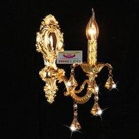 European Crystal wall lamp candle lamps headlight mirror bedside lamp bedroom lamp lighting aisle zinc alloy wall E14,AC110 240V