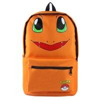 Pokemon Go Charmander Backpack Bag School Book Bag Cute Cartoon Smile Face Bag Kids Boys Girls