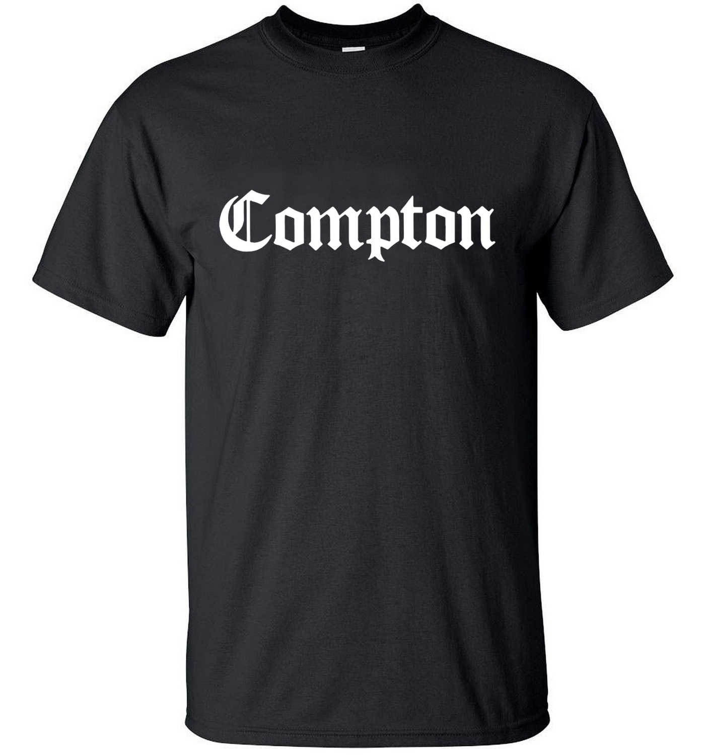 2020 sommer neue Mode streetwear COMPTON Männer T-Shirts hip hop Tops Tees 100% baumwolle hohe qualität marke kleidung lose S-3XL