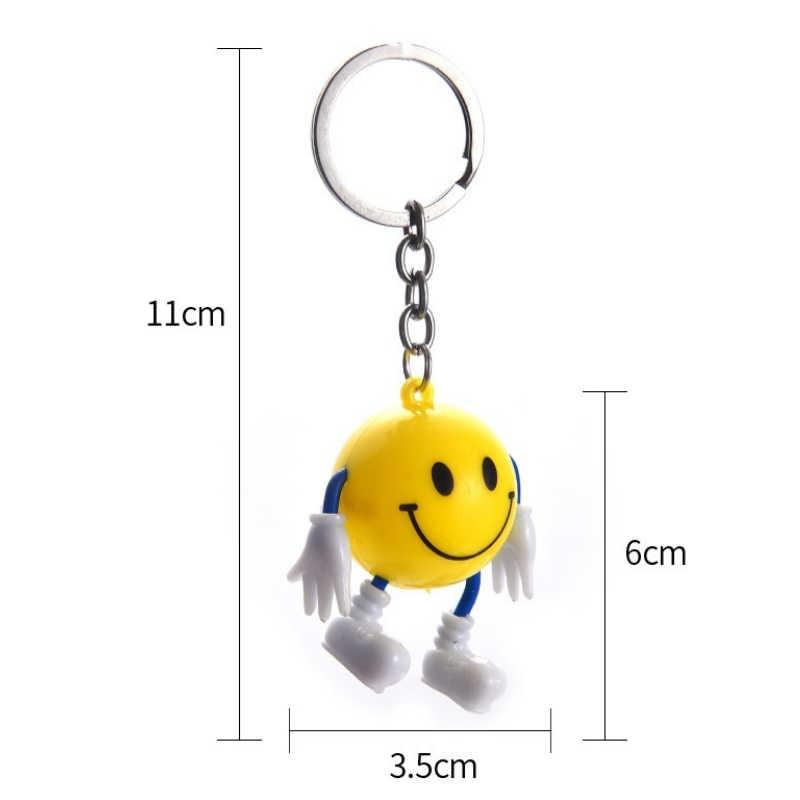 Unisex 1 pc New Emoji Pingente Bonito keychain chave Anéis De Metal Presente chaveiro Para As Mulheres Homens Menina Menino Saco jóia Da Forma do carro