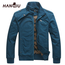 HAQNIU Bomber Jakcet Men Aeronautica Military Jackets Tactrcal Men Coat Slim Fit Thin Cotton Pilot Men Jacket(China)