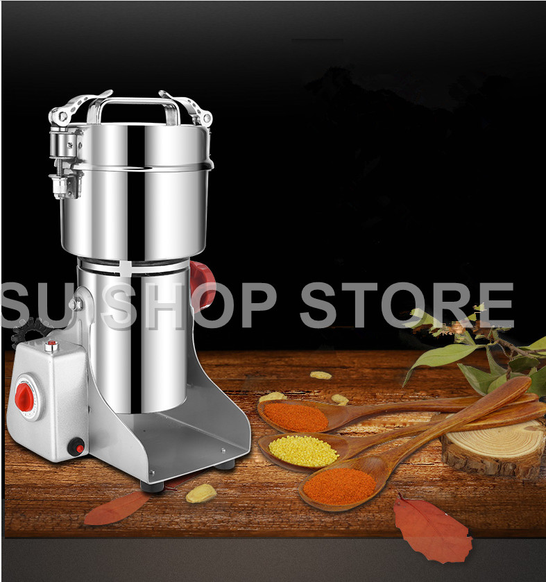 все цены на 700g Grains Spices Hebals Cereals Coffee Dry Food Grinder Mill Grinding Machine gristmill home medicine flour powder crusher
